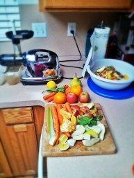 Owoce na blacie kuchennym