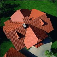 widok na dach z góry